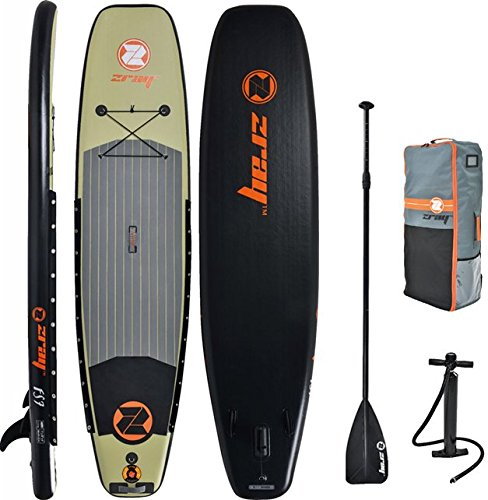 Z-Ray 11' Fishing SUP Stand Up Paddle Board Package w/Pump, Paddle and Travel Backpack, 6' Thick