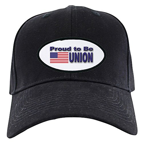 CafePress - Proud To Be Union Black Cap - Baseball Hat, Novelty Black Cap
