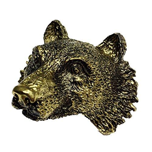 Boy Scout Neckerchief Slide Wolf Metal Woggle Item No.WK03 (Bronze)