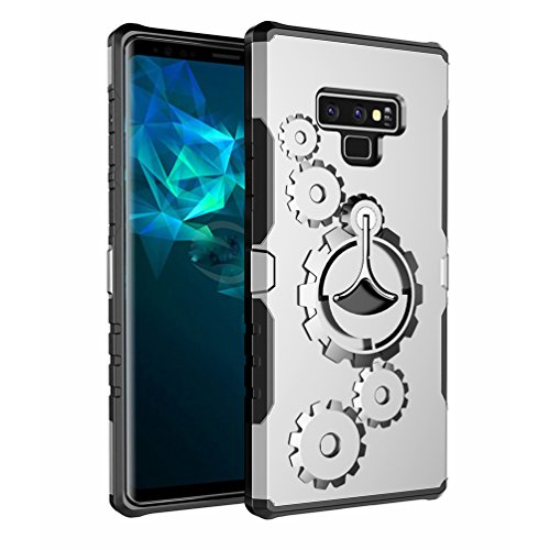 ATRANING Samsung Galaxy Note 9 Case,Built-in Kickstand Ring Sport Armband Shockproof Hard Cover for Note 9 (Silver) ()