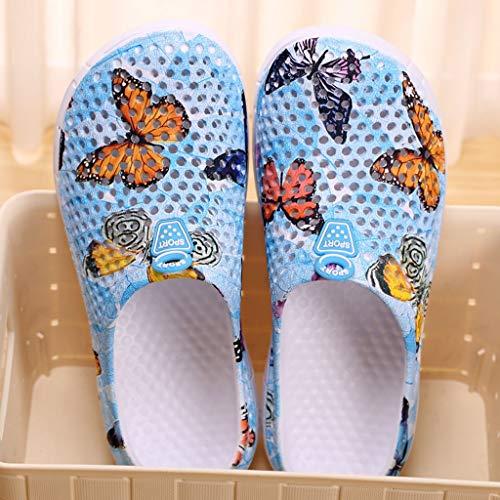 Viola Blu Motivo Giardino Huyuri Zoccoli Rosa Donna Da Floreale Grigio Sandali Scarpe Blu Pantofole Bagno Scarpa Ciabatte SS6qvnfwa