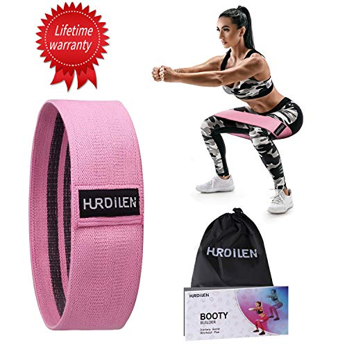 Hurdilen Resistance Bands for Legs and Butt,Hip Bands Booty Bands Wide Workout Bands Resistance Loop Bands Anti Slip Circle Fitness Band Elastic Sports Bands