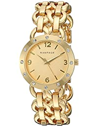 Rampage Women's 'Bracelet Band' Quartz Metal and Alloy Automatic Watch, Color:Gold-Toned (Model: RP1088GD)