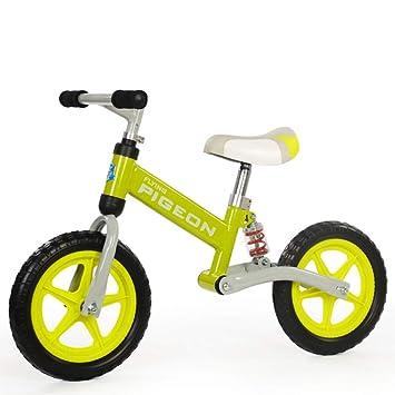 TH - Bicicleta Sin Pedales No Pedal Balance Bike para Niños Rueda Doble, con Bicicleta Amortiguadora para Niños De 1 A 6 Años,Yellow: Amazon.es: Deportes y ...