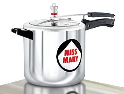 Hawkins Miss Mary Aluminium Pressure Cooker, 7 Litres