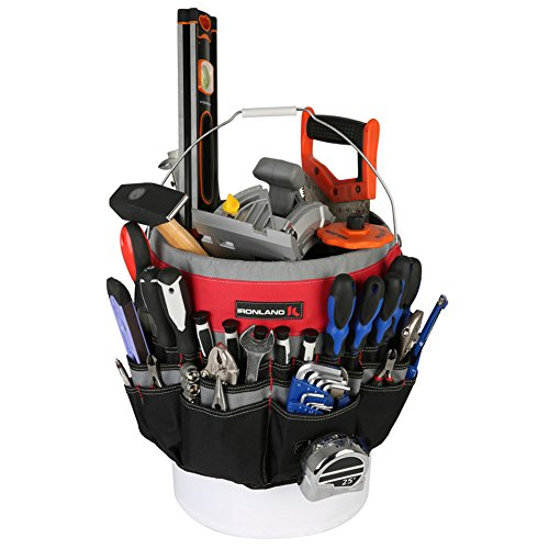 Gardening Plans (Ironland Bucket Tool Organizer Made of tough 600D water resistant polyester with strong webbings. Fits most 5 gallon)