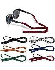 Glasses Strap (Pack of 6) Glasses Holder, Soft Elastic Nylon Sunglass Strap for Men Women