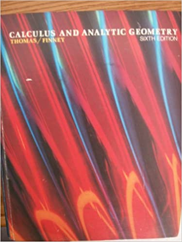 Calculus And Analytic Geometry Sixth Edition Thomas Finney