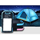 Sunyounger™ Power Blue Color Portable Power Bank Charger 8000mAh Solar Charger Universal Mobile Power Bank Camping Light Solar Light Flashlight Battery Charger for iphone ,smart phone,camera