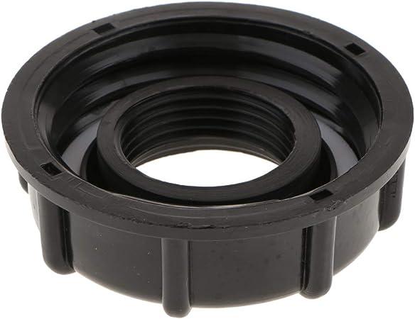 IBC Container Adapter Kunststoff Schraubkappe für 60 mm Gewindeausgang 4 Pcs