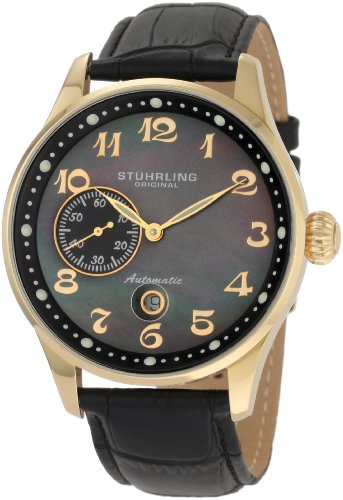 Stuhrling Original Men's 148A.33351 Classic Lineage Grand Automatic Mother-Of-Pearl Date - Watch Complication Gents