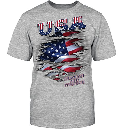 USA THROUGH ATHLETIC GREY HEATHER