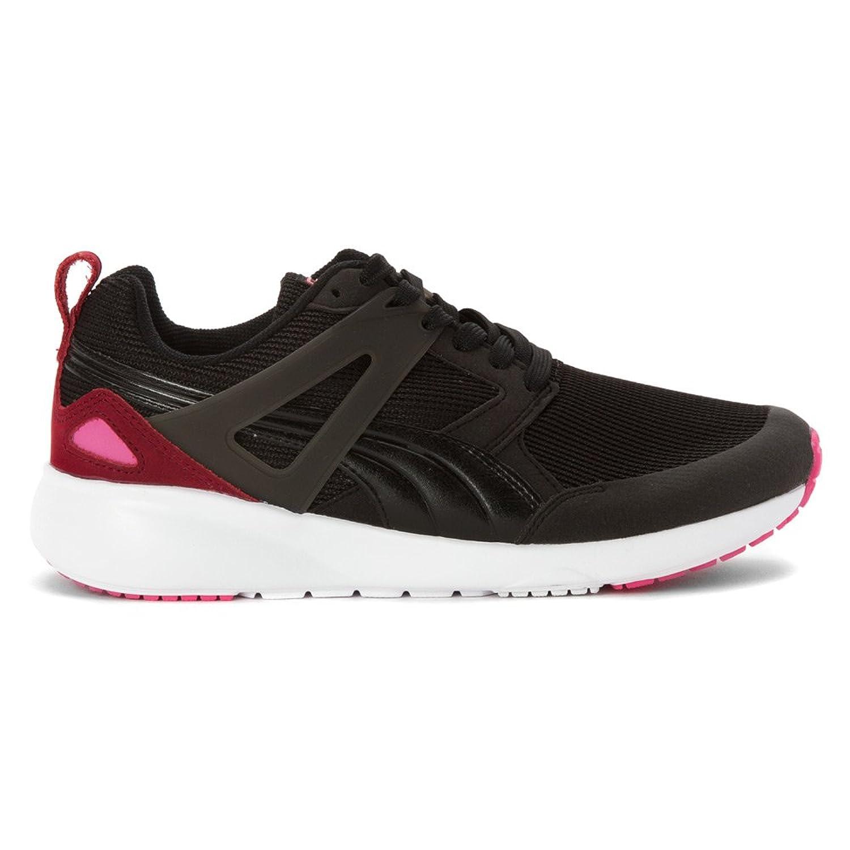 Amazoncom  PUMA Womens Arial Sneaker Black Burgundy 6 M  Fashion  Sneakers