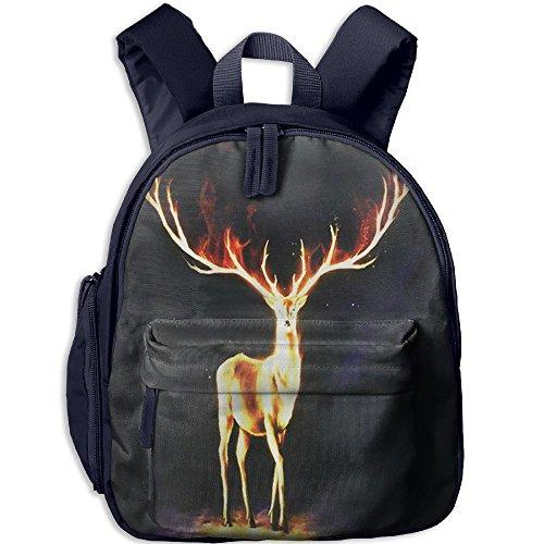 Spirit Holloween Costumes (Deer Bookbag School Backpack Lightweight Durable Insulated Shoulder Bag Kids Student Bag For Pre School Children/Toddler)