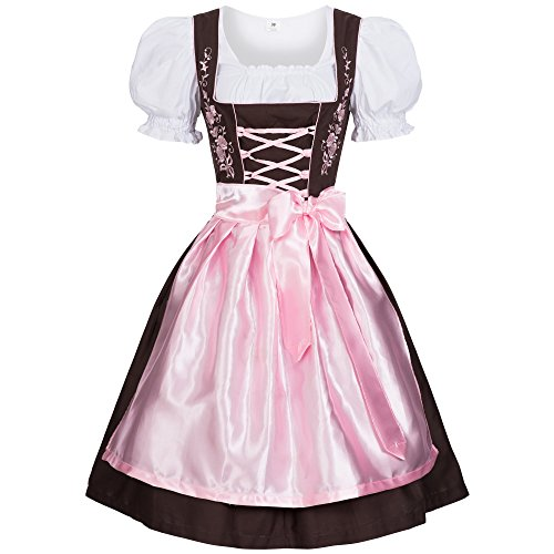 Costume Beer German Girl Pattern (Women's Set-3 Dirndl Pieces Embroidery 36)