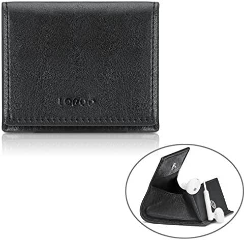 LOPOO Genuine Leather Wallet Pocket-Size Wallet Earphones Case Coin Wallet