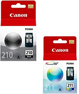 Canon PG-210/CL PIXMA MP240 MP250 MP270 MX320 MX330 MX340 IP2700 IP2702 Ink Cartridge Set (Black,Color) in Retail Packaging