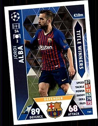 e415b9be2 2018-19 Topps UEFA Champions League Match Attax Title Winners  TW2 Jordi  Alba FC