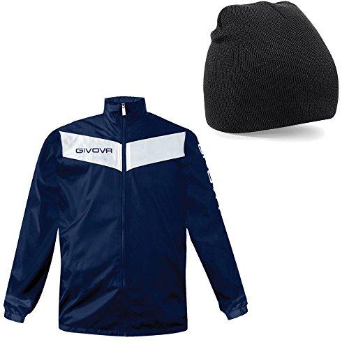 Free Beanie–blu/bianco l (106,7- 111,8cm) Italian fashioned Rain giacca cappotto leggero