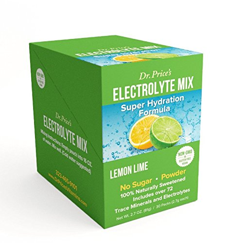 Electrolyte Mix: Super Hydration Formula + Trace Minerals | Lemon-Lime Flavor (30 powder packets) Drink Mix | Dr. Price's Vitamins