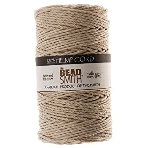 Beadaholique Natural Hemp Twine Bead Cord, 2mm by 197-Feet
