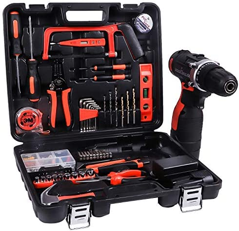 LETTON Power Tools Combo Kit Set60 Accessories 16.8V Cordless Drill for Home wireless Repair Kit Tools