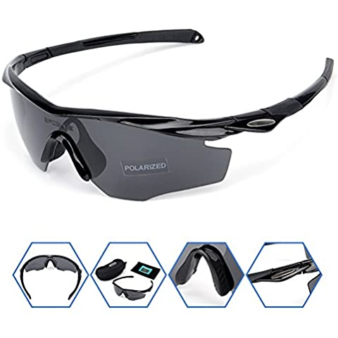 e33f7758ad SPOSUNE Polarized Sports Sunglasses Glasses for Men Women PC Unbreakable  Frame and Polycarbonate Lens for Cycling