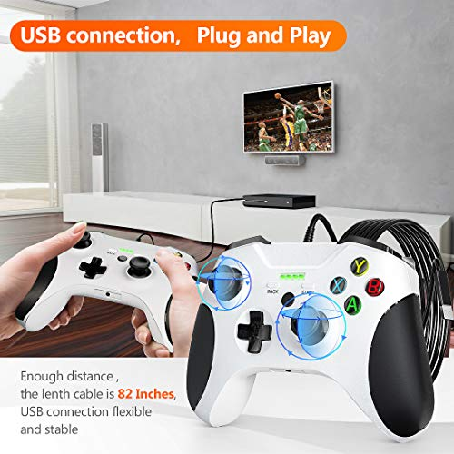 Wired Controller for Xbox One, JORREP 6.6ft Wired Controller Pro with Audio Jack, Vibration Feedback, Wired Gamepad for Xbox One S/One X, Windows 7/8/10