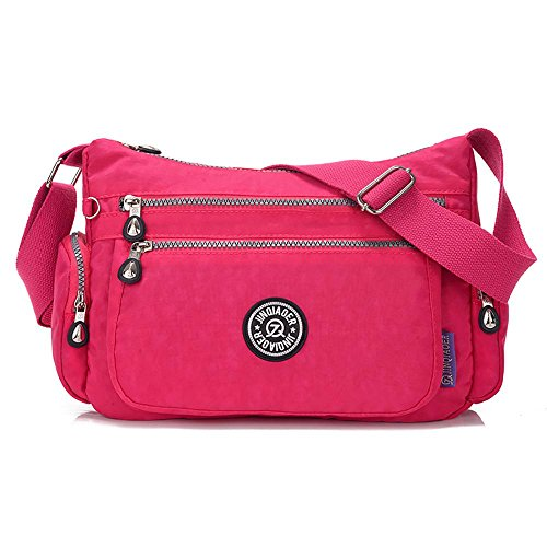 Messenger Waterproof Jade Hot pocket TM Multi Leegoal Bag Pink Nylon Green Women ZUYga