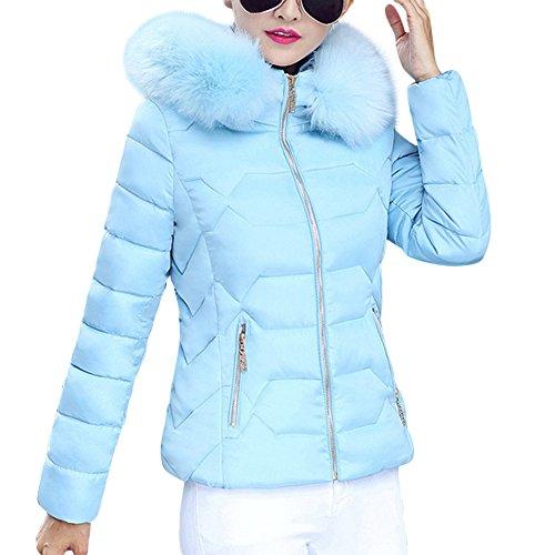 Azul Mujer Larga Misschicy Manga Abrigo para UxZHXXfq