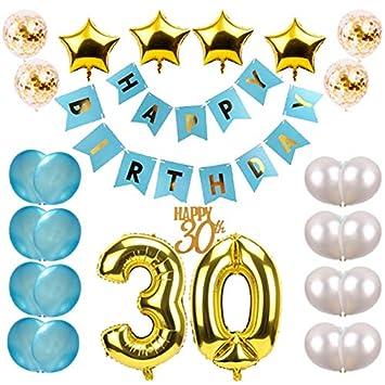 Amazoncom 30th Birthday Party Decorations Kit Large Happy Birthday