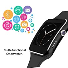 Smartwatch, Bluetooth Smart Watch Phone with SIM Card Slot Pedometer Camera Notification Sync for Android Samsung Google Pixel HTC Sony HUAWEI LG & iOS iPhone (App Unavailable)