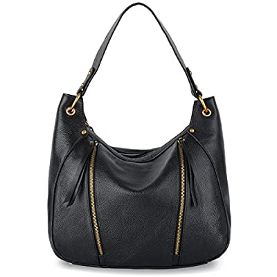 YALUXE Shoulder Bag Leather Tote for Women Fashion elegant Top-Handle Bag black