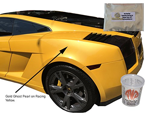 Paint Pearl Gold (25g Gold Ghost Pearl Paint Powder - Mica Pigment for Gold Iridescence, Gold Interference Pearl)