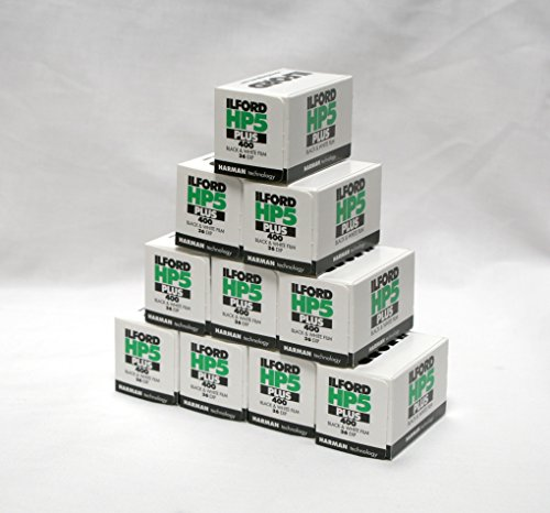 Ilford 1574577 HP5 Plus, Black and White Print Film, 35 mm, ISO 400, 36 Exposures (Pack of 10) by Ilford