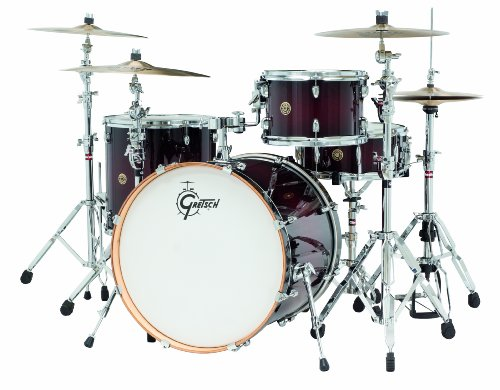 Gretsch Maple Drum (Gretsch Drums Catalina Maple CM1-E824S-DCB 4-Piece Drum Shell Pack, Deep Cherry Burst)