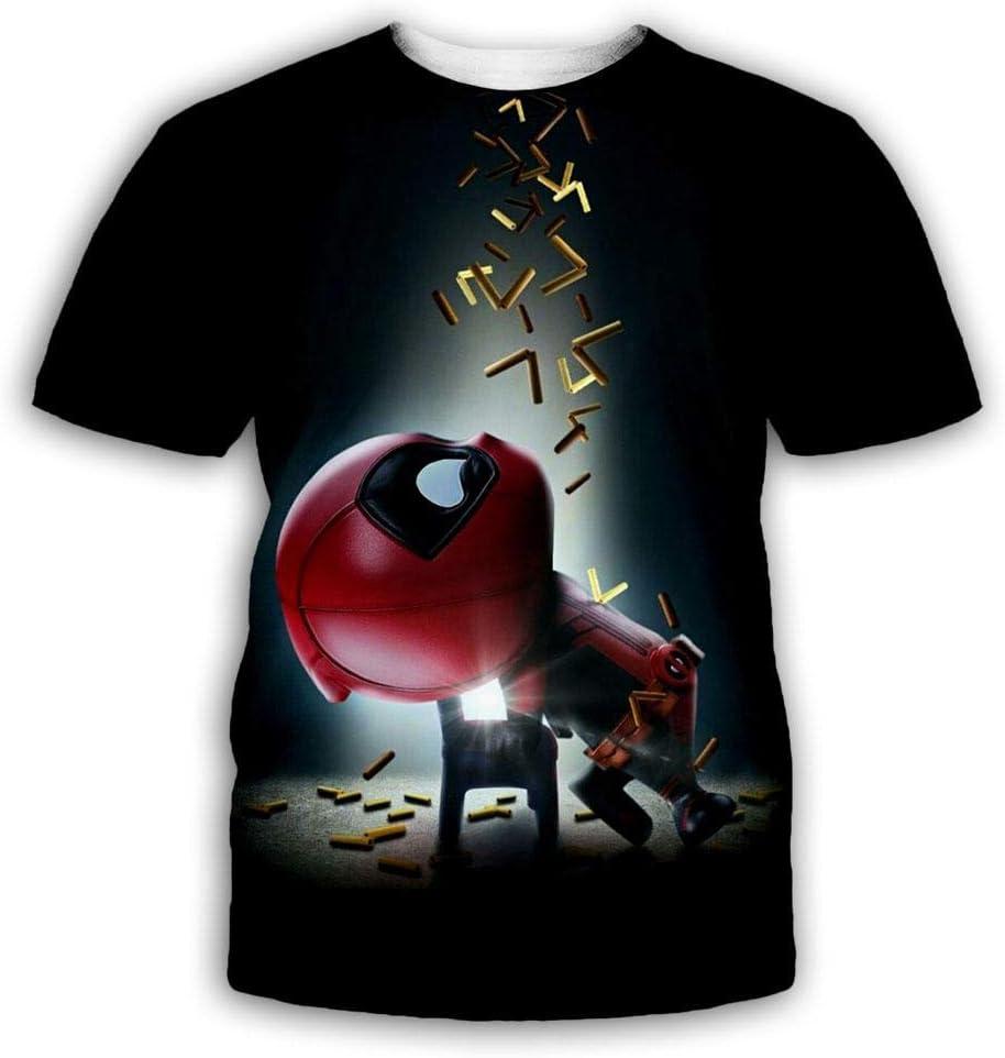 RKWEI Camiseta para Hombre 3D Deadpool Print Mujer Tops de Manga Corta Blusa Camiseta Personalidad Novedad Casual Verano Secado rápido Niños y niñas