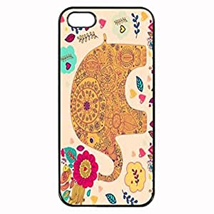 Cute Elephant with Flowers Cool Photo Printed Plastic Rubber Sillicone Customized iPhone 4 Case, iPhone 4S Case Cover, Protection Quique Cover, Perfect fit, Show your own personalized phone Case for iphone 4 & iphone 4S