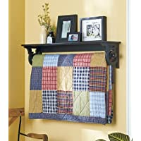 Deluxe Quilt Rack with Shelf 37-1/4W x 7-7/8D x 8H