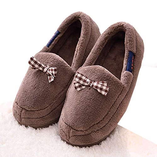Indoor Warm Fuzzy Shoes House Slip Womens Bow On Soft Slippers Cozy Bedroom xAwdXq6