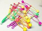 Neon Plastic Clackers, Klakkers, Noise Makers, Party Favors 12 PACK