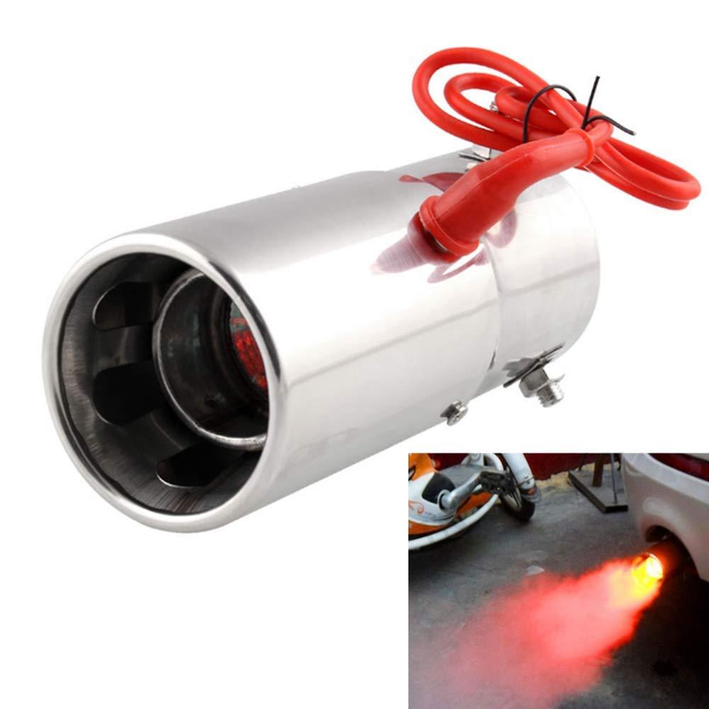 Punta de silenciador de tubo de escape Spitfire LED Luz roja Llama Punta de cola de autom/óvil universal 30 a 63 mm