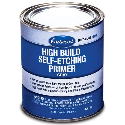- Eastwood High Build Self Etching Primer Gray Quart for Bare Metal True Acid-Etching Formula
