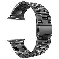 Correa de repuesto comercial para correa de metal de acero inoxidable eLander abc97xxzxvc para Apple Watch Series 1 2 3 4, 42 mm /44 mm, gris espacial