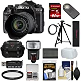 Pentax K-1 Mark II Full Frame Wi-Fi Digital SLR Camera & FA 28-105mm Lens 64GB Card + Battery + Flash + Case + Tripod + Kit