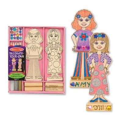 Fashion Dolls Own (Melissa & Doug Decorate-Your-Own Wooden Fashion Dolls Craft Kit)