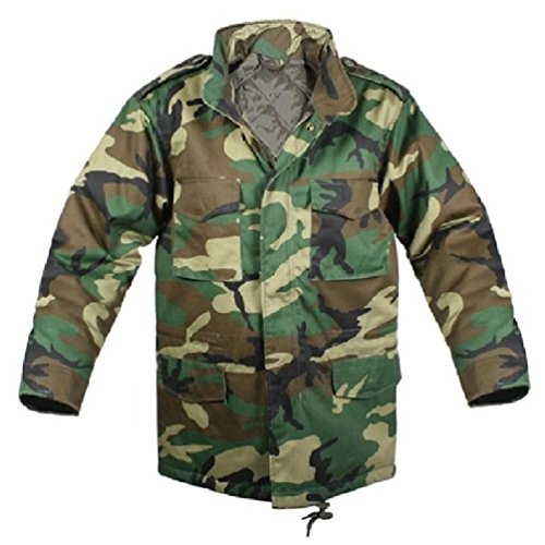 Jacket M-65 Camouflage Field - Bellawjace Clothing Woodland Camouflage Military M-65 Field Jacket Coat With Liner
