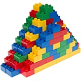 Classic Big Briks by Strictly Briks | Building Brick Set 100% Compatible with All Major Brands | 2 Large Block Sizes For Ages 3+ | Premium Building Bricks in Blue, Green, Red, and Yellow | 108 Pieces