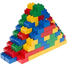 Classic Big Briks   Building Brick Set 100% Compatible with All Major Brands   2 Large Block Sizes For Ages 3+   Premium Building Bricks in Blue, Green, Red, and Yellow   108 Pieces