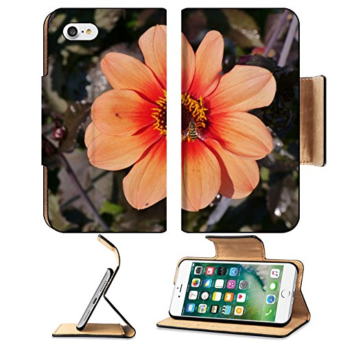 Liili Apple iPhone 7 Pu Leather Flip Case An orange blooming dahlia flower iPhone7 Plus Image ID 23056012